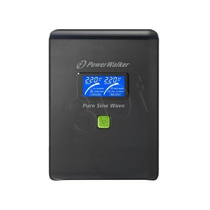 POWER WALKER UPS LINE-INTERACTIVE 1500VA 6X IEC 230V, PURE SINE WAVE, RJ11/45 IN/OUT, USB, LCD