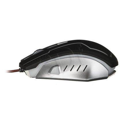 Tacens Mysz przewodowa optyczna MM2 5000dpi czarna- srebrna