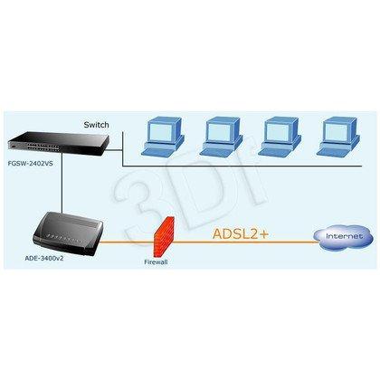 PLANET ADE-3400A Modem/Router ADSL 2/2+ (1 port RJ-45, 1 port RJ-11) (Neostrada i Netia: Linia analogowa)