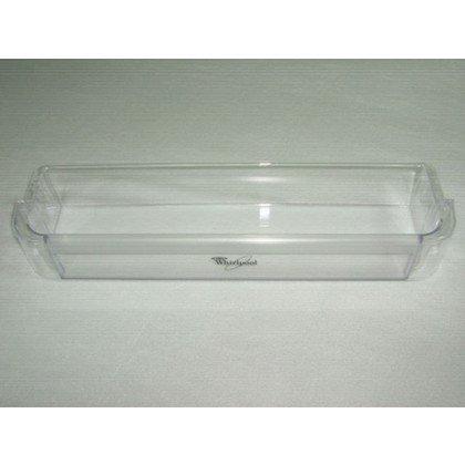 Półki na drzwi różni producenci Balkonik dolny 44(40)x10.5x6.5 cm Whirlpool (480131100689)