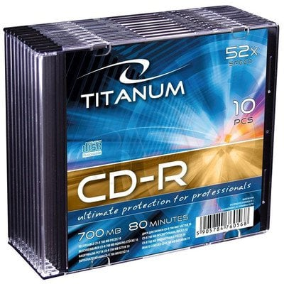 TITANUM CD-R 700MB/80min - Slim 10 52X