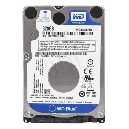"Dysk HDD Western Digital SCORPIO BLUE 2,5"" 320GB SATA III 16MB 5400obr/min WD3200LPCX"