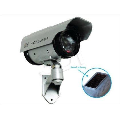 Atrapa kamery tubowej SOL1200 Solarna (srebrna)