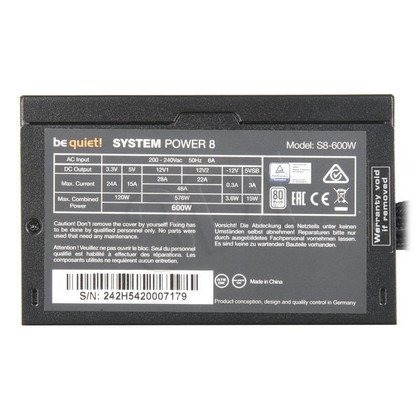 Zasilacz BE QUIET! SYSTEM POWER 8 (600W) BN242