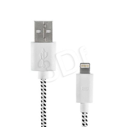 EXC KABEL USB DO IPHONE 5, WEAVE,2M,BIAŁY