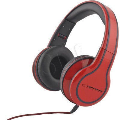 Słuchawki nauszne Esperanza BLUES EH136R (Czerwony)