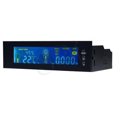 "AKYGA PANEL LCD 5.25"" STEROWANIE WENTYLATOREM + POMIAR TEMPERATURY + STATUS POWER I HDD"
