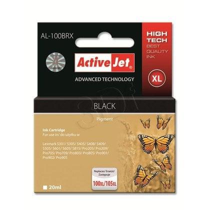 ActiveJet AL-100BRX tusz czarny do drukarki Lexmark (zamiennik Lexmark 100XL/ 105XL 14N1068, 14N0820) Premium