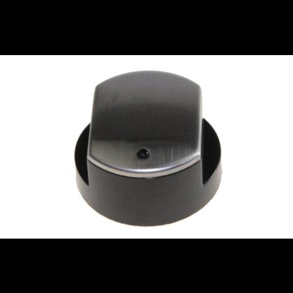 Pokrętło płyty gazowej czarne z nakł. inox (481241279197)