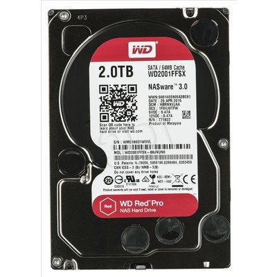 Dysk HDD Western Digital WD RED PRO 2000GB SATA III 64MB