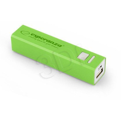 ESPERANZA POWER BANK ERG 2400mAh ZIELONY EMP102G