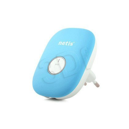 NETIS REPEATER E1+ (BLUE) WIFI B/G/N300 + RJ45, MINI , DO GNIAZDKA 230V