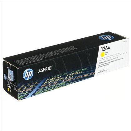 HP Toner Żółty HP126A=CE312A, 1000 str.