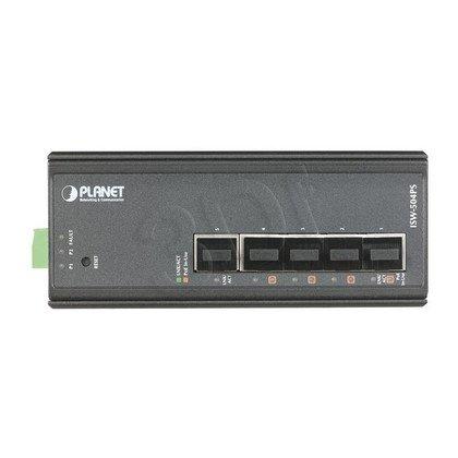 PLANET ISW-504PS Switch przemysł. PoE 5x 10/100mbps