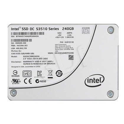 Dysk SSD Intel DC S3510 240GB SATA III