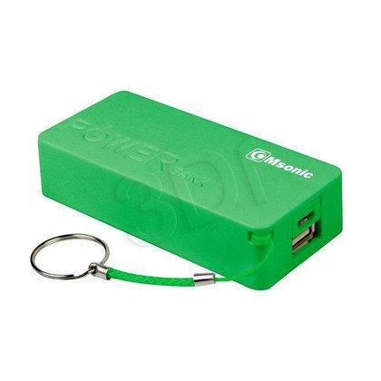 MSONIC POWER BANK 5000MAH, LI-ION MY2580E ZIELONY