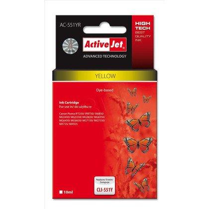 ActiveJet AC-551YR tusz yellow do drukarki Canon (zamiennik Canon CLI-551Y) Premium/ chip