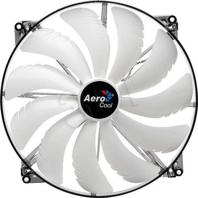 WENTYLATOR AEROCOOL MASTER WHITE LED - 200x200x20mm