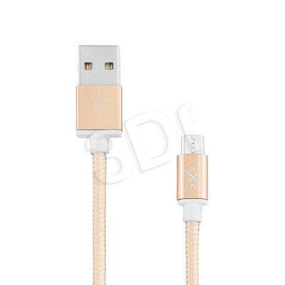 EXC UNIWERSALNY KABEL USB-MICRO USB, GLOSSY, 1.5 METRA, ZŁOTY