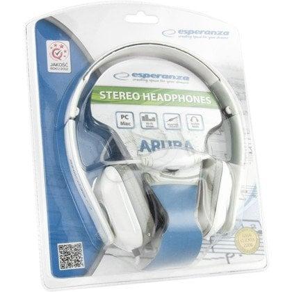 Słuchawki nauszne Esperanza ARUBA (Biało-szary)