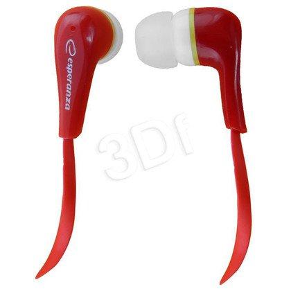 Słuchawki douszne Esperanza LOLLIPOP EH146R (Czerwony)