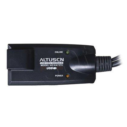 Aten kabel KVM KA7570 RJ-45 - USB, SVGA czarny