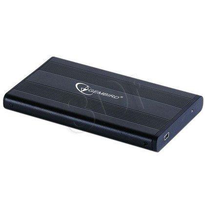 """GEMBIRD OBUDOWA 2.5"""" NA DYSK SATA USB 2.0 CZARNA ALUMINIUM EE2-U2S-5"""