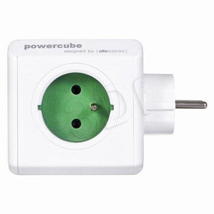 Allocacoc Rozgałęźnik PowerCube (5szt. gniazd biało-zielony)