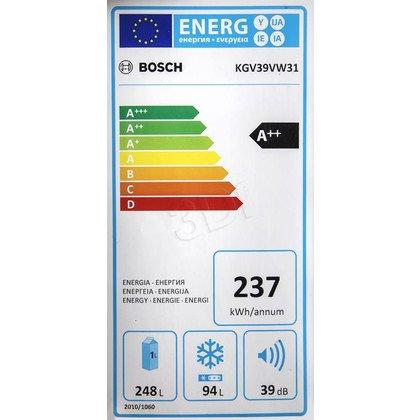 Chłodziarko-zamrażarka Bosch KGV39VW31 (600x2010x650mm Biały A++)