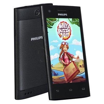 "Smartphone Philips S309 4GB 4"" 4.4 Czarny"