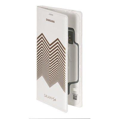 """Samsung Etui do telefonu Flip Wallet Nicolas Kirkwood 5,1"""" Galaxy S5 biało- złote"""