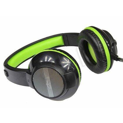Słuchawki nauszne z mikrofonem Media tech MT3564 (Czarno-zielony)