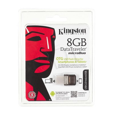 Kingston Flashdrive DataTraveler microDuo 8GB USB 2.0 Brązowy