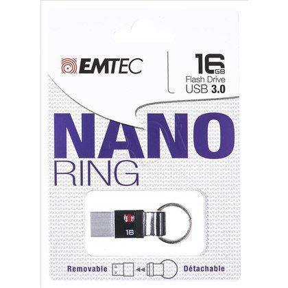 Emtec Flashdrive NANO RING T100 16GB USB 3.0 Czarny