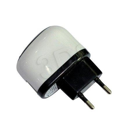 MSONIC ŁADOWARKA SIECIOWA 1X USB, 1A, AC 100~240V MY6644UW BIAŁO-CZARNA