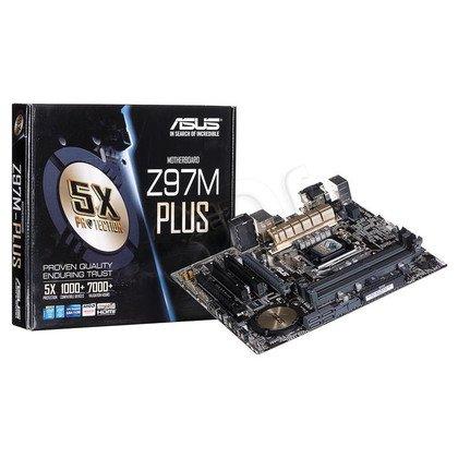 ASUS Z97M-PLUS Z97 LGA1150 mATX (PCX/DZW/VGA/GLAN/SATA3/USB3/RAID/DDR3/CROSSFIRE)