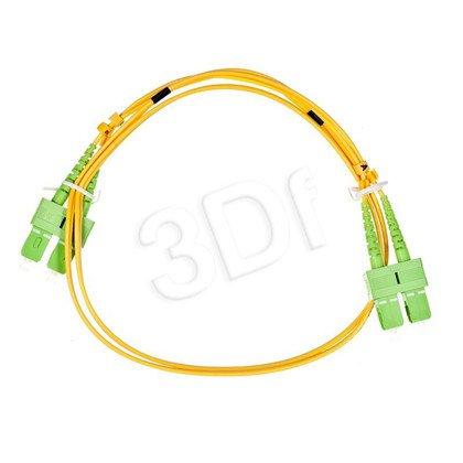 ALANTEC patchcord światłowodowy SM LSOH 1m SC/APC-SC/APC duplex 9/125 żółty