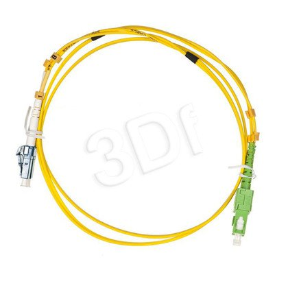 ALANTEC patchcord światłowodowy SM LSOH 1m SC/APC-LC duplex 9/125 żółty