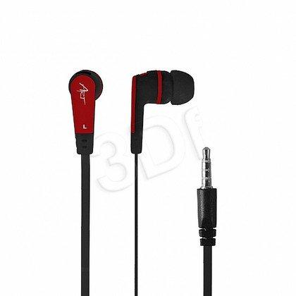 Słuchawki douszne z mikrofonem ART S2C (czarno-czerwony)