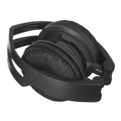 Słuchawki nauszne z mikrofonem Panasonic RP-DJS150ME (Czarny)