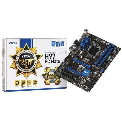 MSI H97 PC Matee H87 LGA1150 (PCX/DZW/VGA/GLAN/SATA3/USB3/RAID/DDR3/CROSSFIRE)