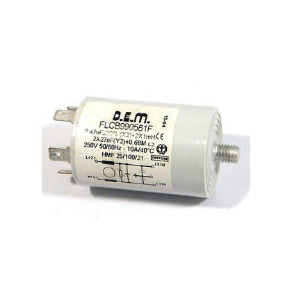 Elementy elektryczne do pralek r Filtr przeciwzakłóceniowy (481912118143)