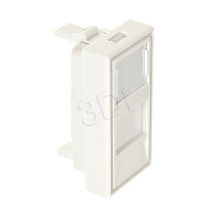 ALANTEC Adapter 22,5x45 z przesłoną na 1 moduł keystone
