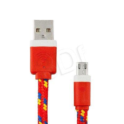 EXC UNIWERSALNY KABEL USB-MICRO USB, SLIM, 1.5 METRA, CZERWONY