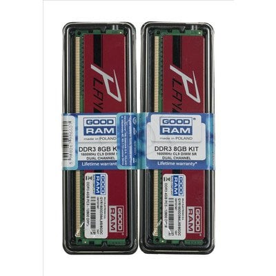 GOODRAM DDR3 PLAY 8GB PC1600 2x4GB RED CL9 512x8