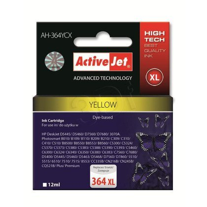 ActiveJet AH-364YCX (AH-C25) tusz yellow do drukarki HP (zamiennik HP 364XL CB325EE)