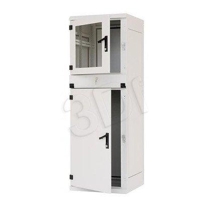 """Triton Szafa rack 19"""" przemysłowa stojąca RPE-37-A68-CCX-A1 (37U, 600x600mm, trzysekcyjna, kolor jasnoszary RAL7035 , klasa szczelności IP54)"""