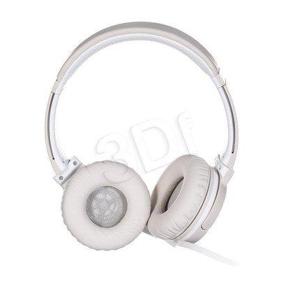 Słuchawki nauszne z mikrofonem Sony MDR-ZX660APC (Biało-srebrny)