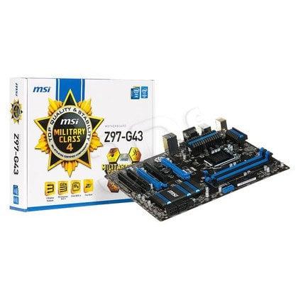 MSI Z97-G43 Z97 LGA1150 (PCX/DZW/VGA/GLAN/SATA3/USB3/RAID/DDR3/CROSSFIRE)