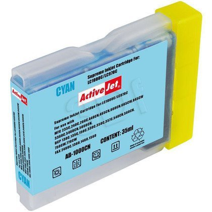 ActiveJet AB-1000CN (AB-1000C) tusz cyan do drukarki Brother (zamiennik LC1000C, LC970C)